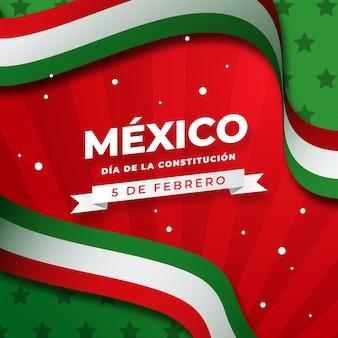 Drapeau de jour de constitution mexicain dégradé
