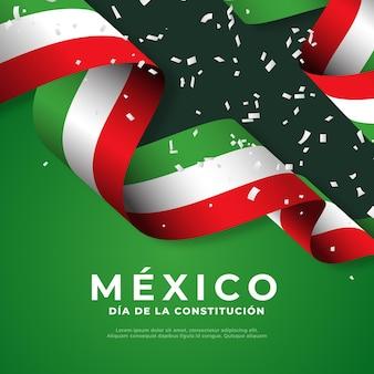 Drapeau de la journée de la constitution mexicaine