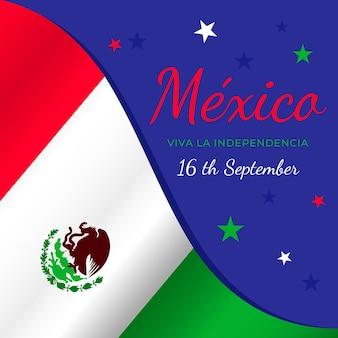 Drapeau de la journée internationale du mexique
