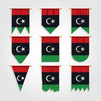 Drapeau de la libye sous différentes formes, drapeau de la libye sous différentes formes