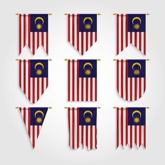 Drapeau de la malaisie sous différentes formes, drapeau de la malaisie sous différentes formes