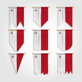 Drapeau de malte sous différentes formes
