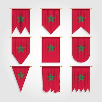 Drapeau marocain sous diverses formes