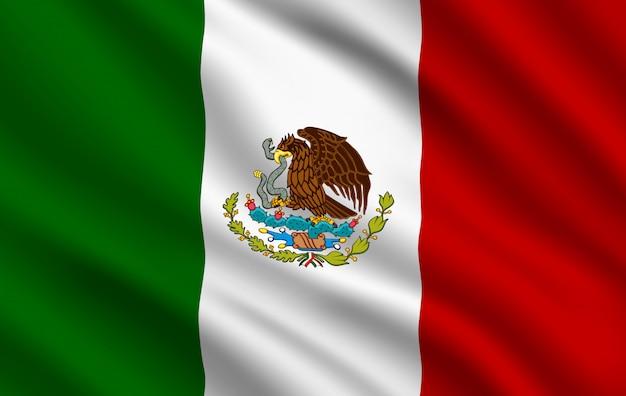 Drapeau mexicain, identité nationale du pays mexique