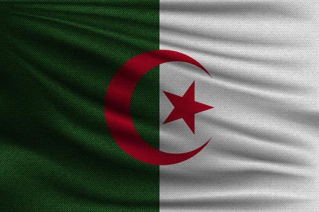 Le drapeau national de l'algérie.