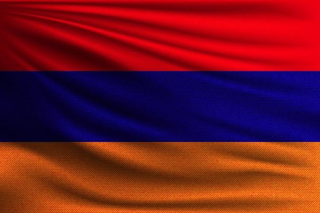 Le drapeau national de l'arménie.