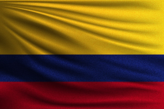 Le drapeau national de la colombie.
