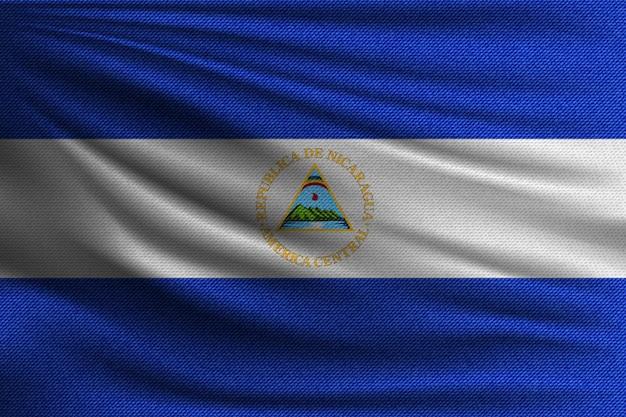 Le drapeau national du nicaragua.