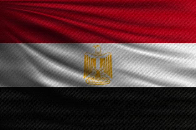 Le drapeau national de l'égypte.