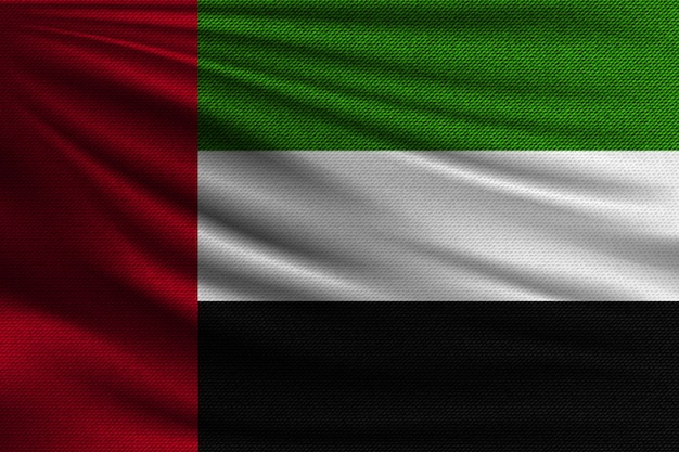 Le drapeau national des émirats arabes unis.