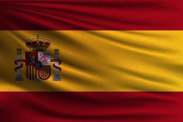 Le drapeau national de l'espagne.