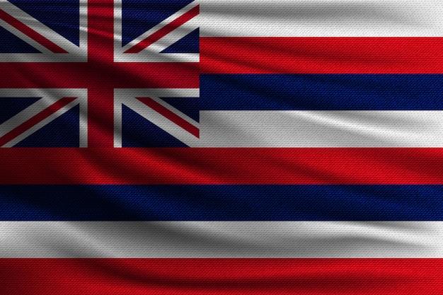 Le drapeau national de l'île hawaïenne.