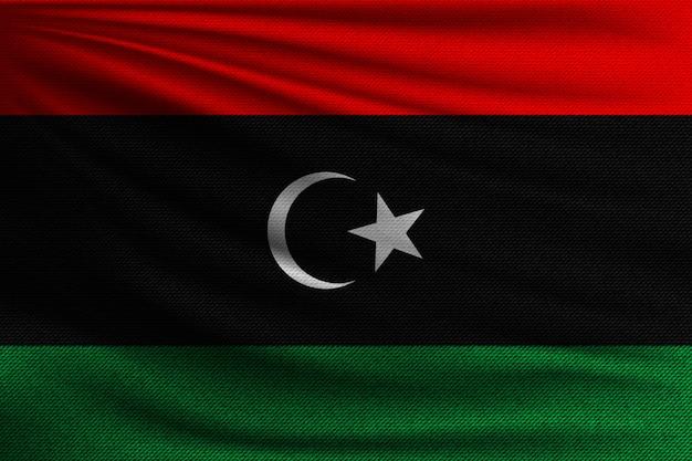 Le drapeau national de la libye.