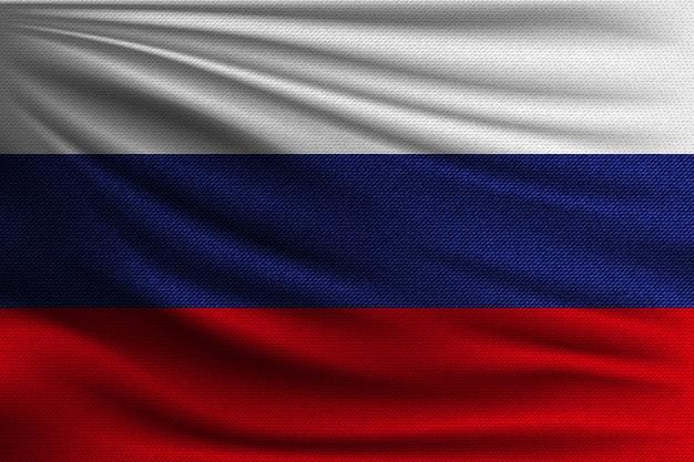 Le drapeau national de la russie.