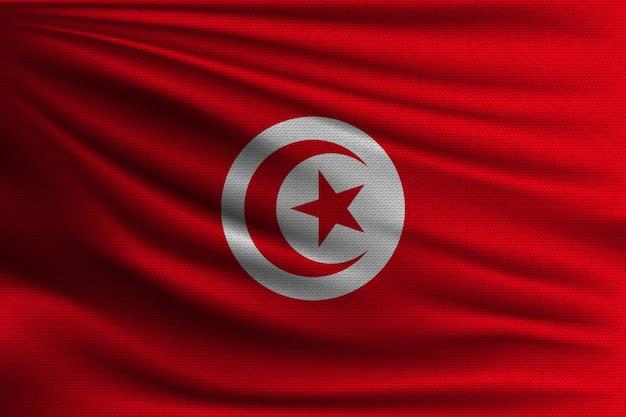 Le drapeau national de la tunisie.