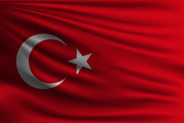 Le drapeau national de la turquie.