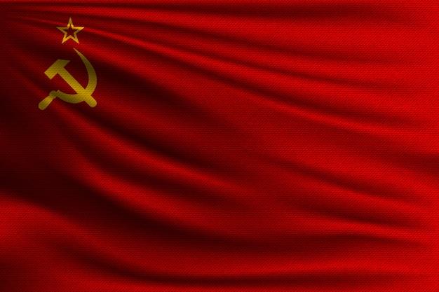 Le drapeau national de l'union soviétique.