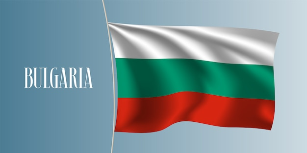 Drapeau ondulant de la bulgarie