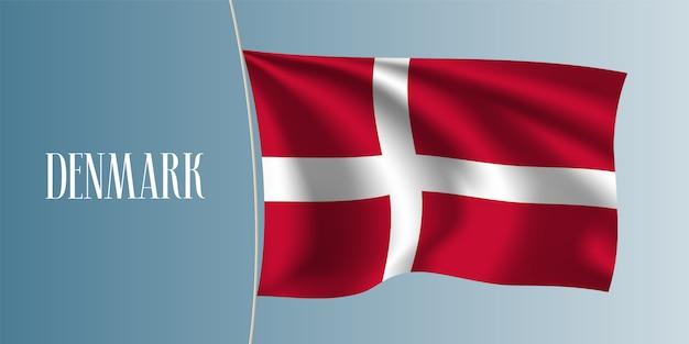 Drapeau ondulé du danemark