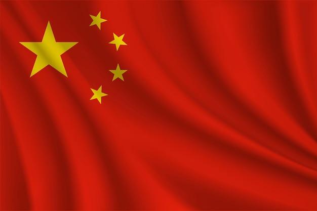 Drapeau ondulé réaliste chinois