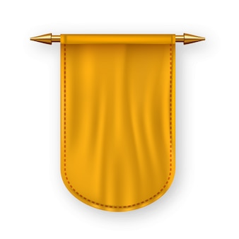 Drapeau orange pennat