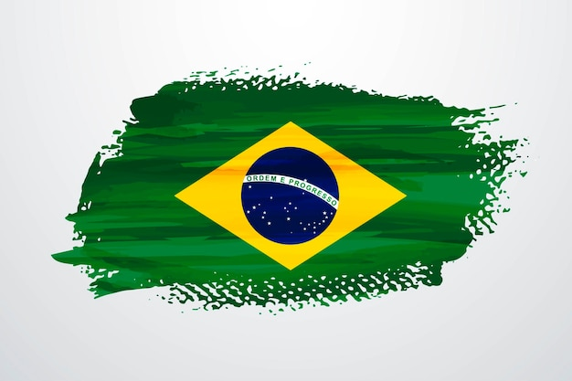 Drapeau de peinture pinceau brésil