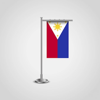 Drapeau des philippines avec le vecteur de design créatif
