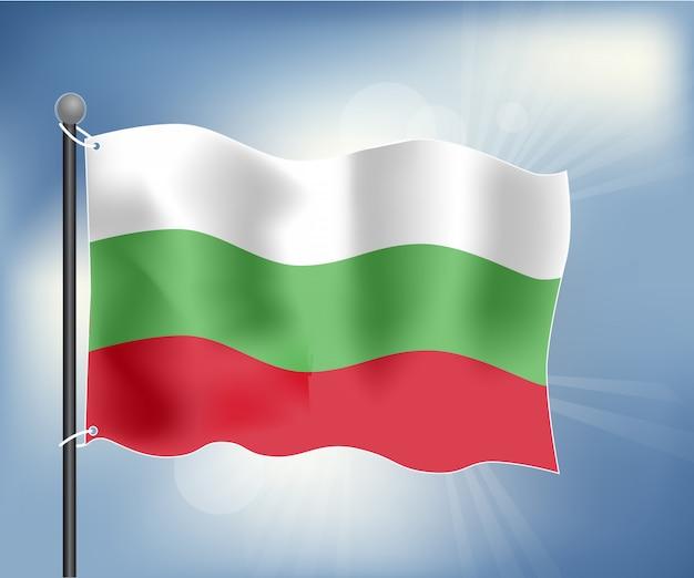 Drapeau réaliste de la bulgarie