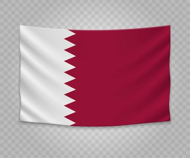 Drapeau réaliste du qatar