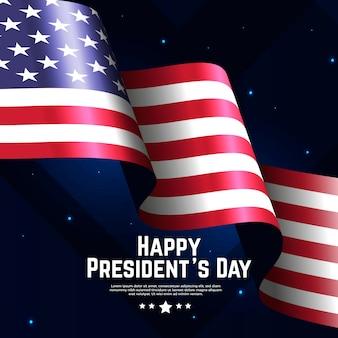 Drapeau réaliste pour la journée du président