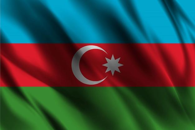 Drapeau de la république d'azerbaïdjan flottant sur fond de soie