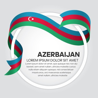 Drapeau de ruban de l'azerbaïdjan, illustration vectorielle sur fond blanc