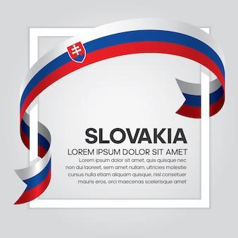 Drapeau de ruban de slovaquie, illustration vectorielle sur fond blanc