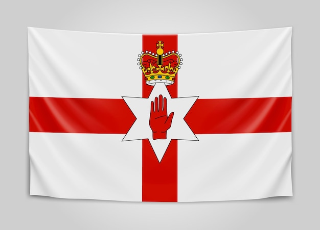 Drapeau suspendu de l'irlande du nord. irlande du nord.