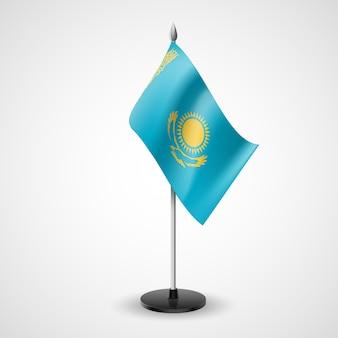 Drapeau de table du kazakhstan
