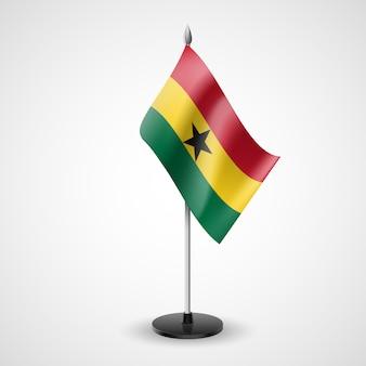 Drapeau de table d'état du ghana. symbole national
