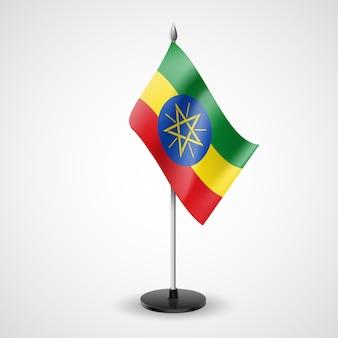 Drapeau de table de l'éthiopie