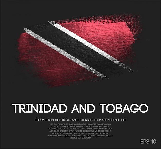 Drapeau de trinité-et-tobago en paillettes scintillantes