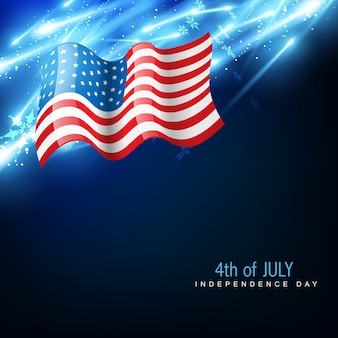 Drapeau vectoriel du jour de l'indépendance amercien