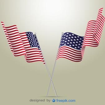Drapeaux américains illustration vectorielle