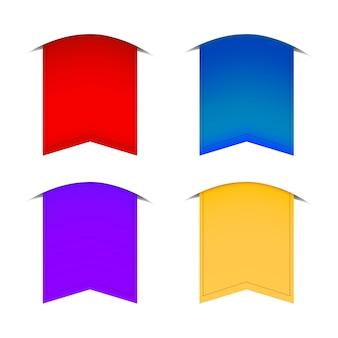 Drapeaux de couleurs différentes