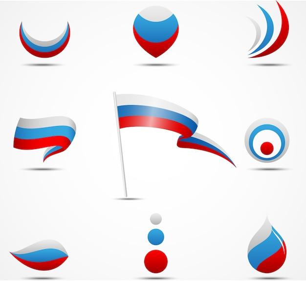 Drapeaux et icônes de la russie
