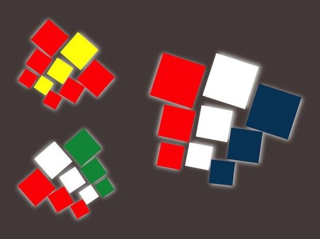 Drapeaux nationaux colorés