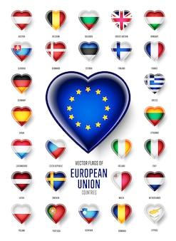 Drapeaux de pays de l'union européenne
