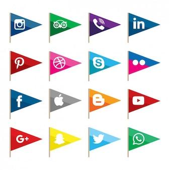 Drapeaux réseau social