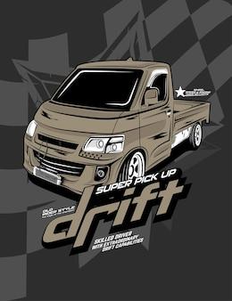 Drift pick up, voiture de drift personnalisée