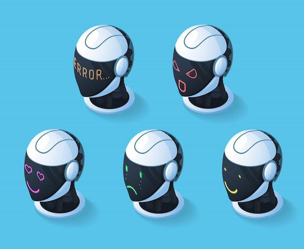 Droid emotions icon set