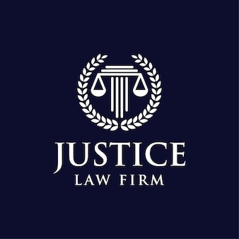Droit justice échelle logo tmeplate