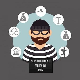 Droit et justice juridique graphique