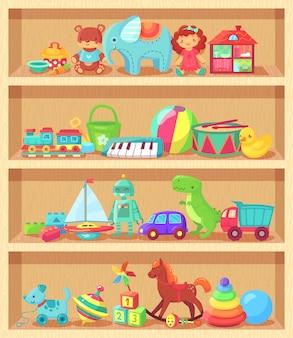Drôle animal bébé piano constructeur fille poupée et boule robot peluche ours éléments vintage pour la joie des enfants